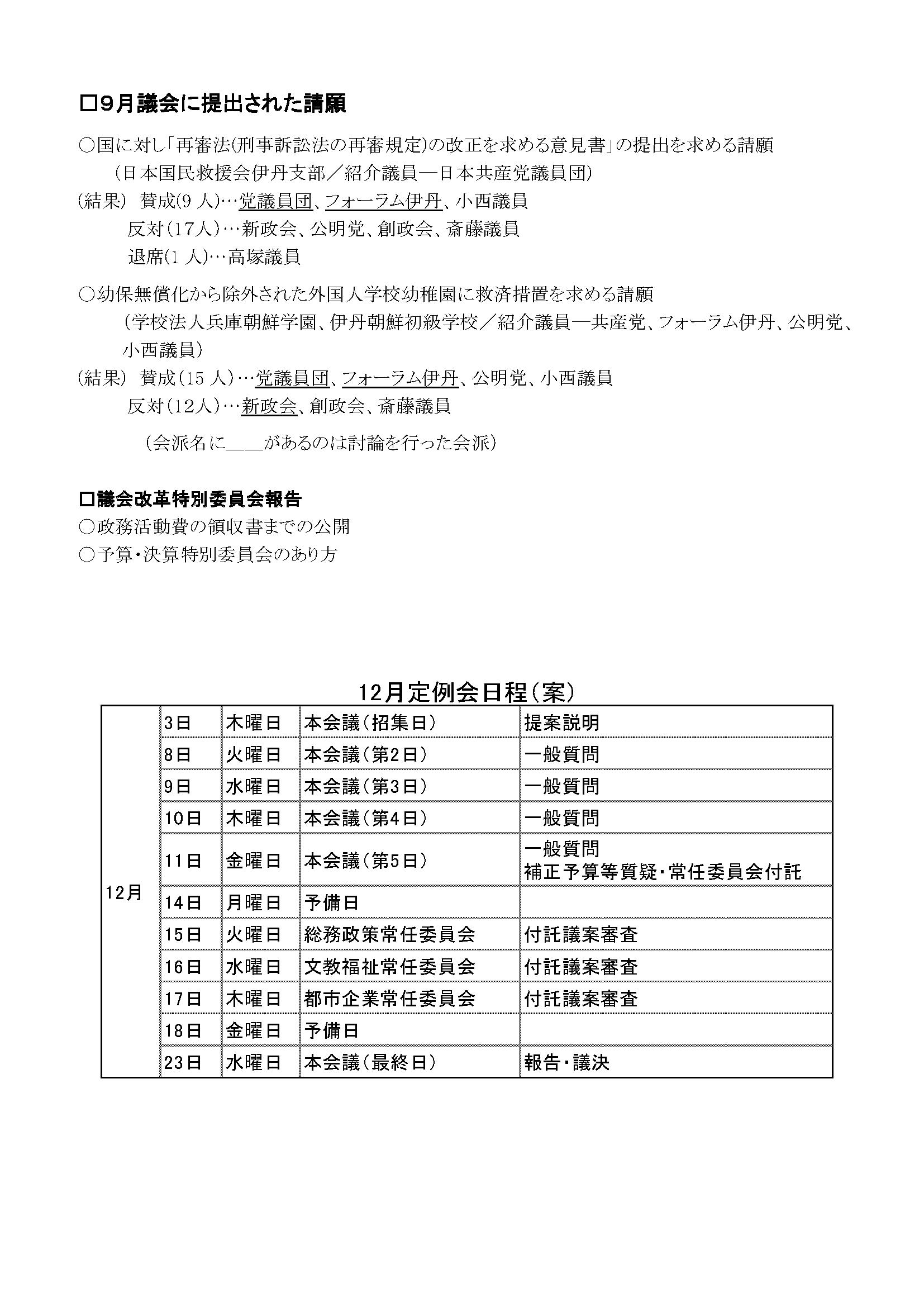 日本共産党伊丹市議団ニュース370号(裏面)