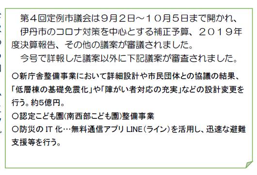 日本共産党伊丹市議団ニュース第372号3面部分